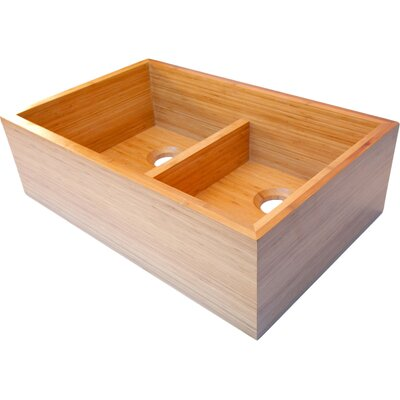 32.63 x 21 Double Bowl Kitchen Sink