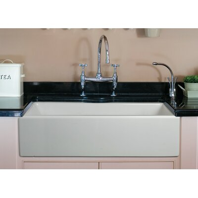 36 x 18 Single Bowl Fireclay Farmhouse Kitchen Sink Finish: Biscuit