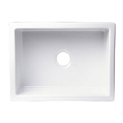 24 x 18 Undermount Fireclay Kitchen Sink Finish: Biscuit