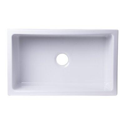 30 x 18 Undermount Fireclay Kitchen Sink Finish: White
