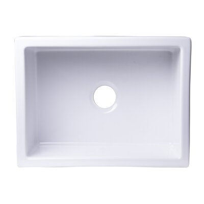 24 x 18 Undermount Fireclay Kitchen Sink Finish: White