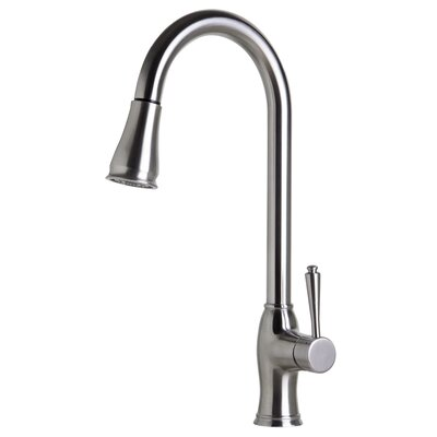 Single Handle Deck Mounted Kitchen Faucet Finish: Solid Brushed