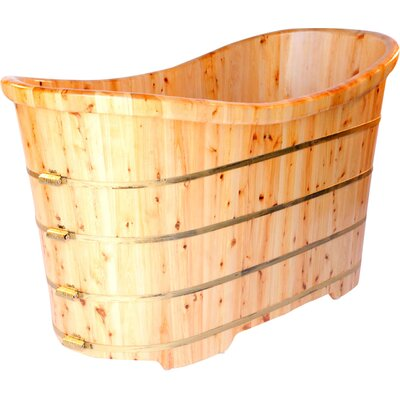 63 x 28.38 Freestanding Soaking Bathtub