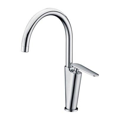 Gooseneck Deck Mounted Single Handle Bathroom Faucet Finish: Polished Chrome