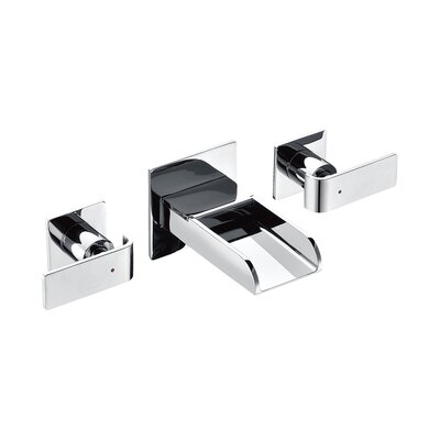Modern Waterfall Widespread Wall Lever Bathroom Faucet