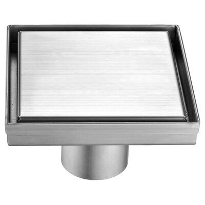 SquareStainless Steel2 Grid Shower Drain