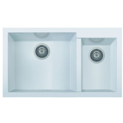 Granite Composite 33.88 x 19.75 Double Bowl Undermount Kitchen Sink Finish: White