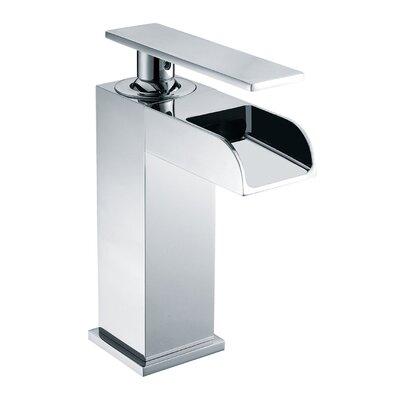 Waterfall Deck Mounted Single Handle Bathroom Faucet Finish: Polished Chrome