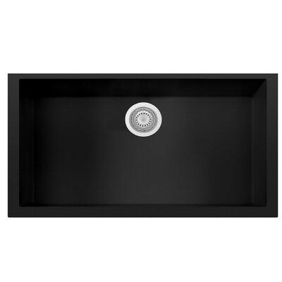Granite Composite 33 x 19.38 Single Bowl Undermount Kitchen Sink Finish: Black