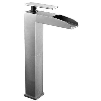 Waterfall Deck Mounted Single Handle Bathroom Faucet Finish: Brushed Nickel