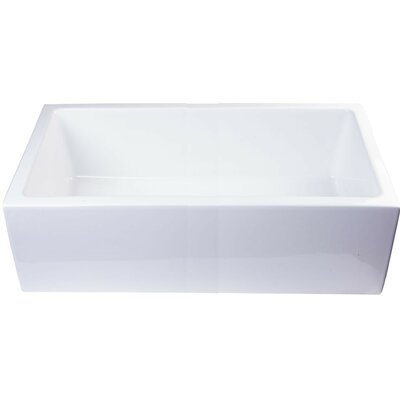 Smooth Apron Single Bowl Smooth Apron Single Bowl Vessel Bathroom Sink Sink Finish: Biscuit