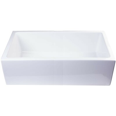 Smooth Apron Single Bowl Smooth Apron Single Bowl Vessel Bathroom Sink Sink Finish: White