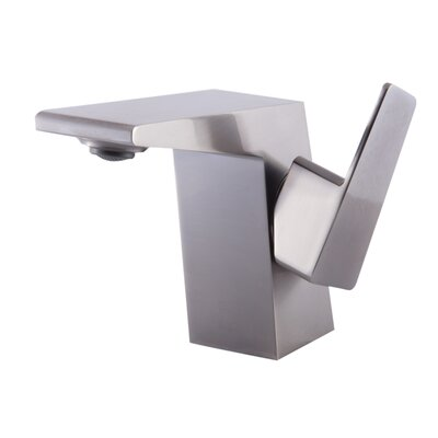 Widespread Deck Mounted Single Handle Bathroom Faucet Finish: Brushed Nickel