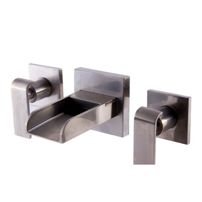 Modern Waterfall Widespread Wall Lever Bathroom Faucet