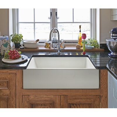 Reversible Single Bowl Fireclay Farm 30 x 10 Farmhouse Kitchen Sink Finish: White