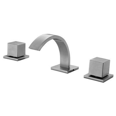 Widespread Double Handle Bathroom Faucet Finish: Brushed Nickel