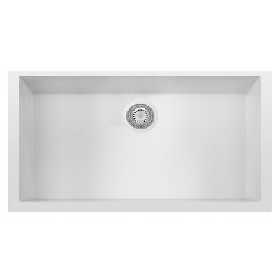 Granite Composite 33 x 19.38 Single Bowl Undermount Kitchen Sink Finish: White