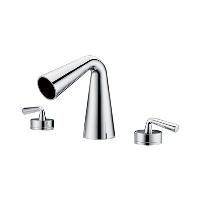 Waterfall Widespread Deck Mounted Double Handle Bathroom Faucet Finish: Polished Chrome