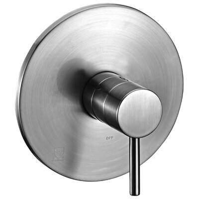 Round Pressure Balanced Shower Faucet Trim Only Finish: Brushed Nickel