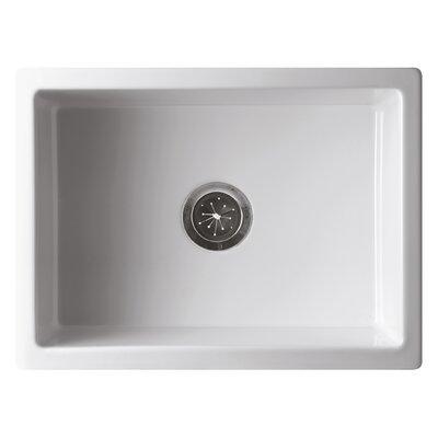 Reversible Single Bowl Fireclay Farm 24 x 10 Farmhouse Kitchen Sink Finish: White