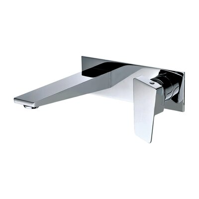 Wall Mounted Single Handle Bathroom Faucet Finish: Polished Chrome