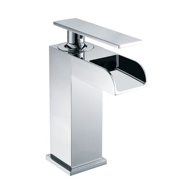 Waterfall Deck Mounted Single Handle Bathroom Faucet Finish: Polished Chrome