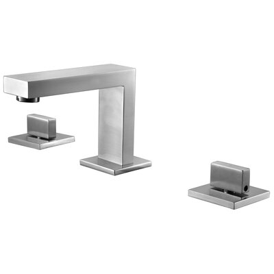 Widespread Deck Mounted Double Handle Bathroom Faucet Finish: Brushed Nickel