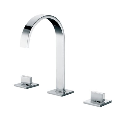 Gooseneck Widespread Deck Mounted Double Handle Bathroom Faucet Finish: Polished Chrome