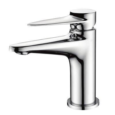 Deck Mounted Single Handle Bathroom Faucet Finish: Polished Chrome