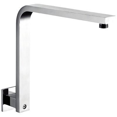 12 Square Raised Wall Mounted Shower Arm Finish: Polished Chrome
