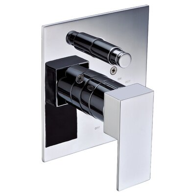 Square Pressure Balanced Shower Mixer Finish: Polished Chrome