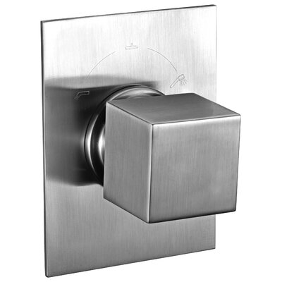 Square 3 Way Shower Diverter Finish: Brushed Nickel