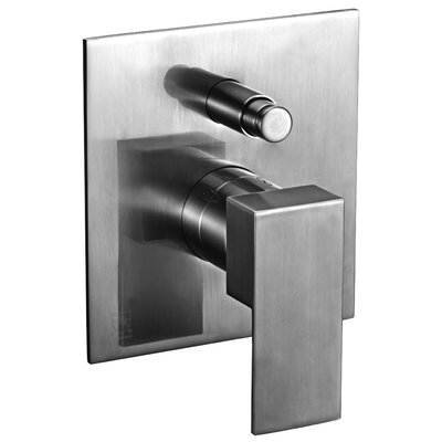 Square Pressure Balanced Shower Mixer Finish: Brushed Nickel
