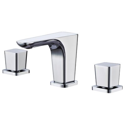 Widespread Deck Mounted Double Handle Bathroom Faucet Finish: Polished Chrome