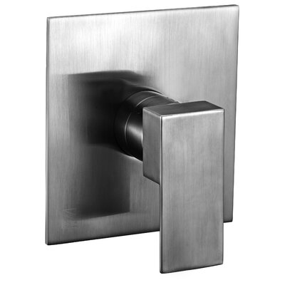 Square Pressure Balanced Shower Mixer Finish: Brushed Nickel
