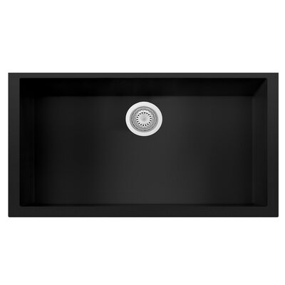 Granite Composite 33 x 19.38 Single Bowl Undermount Kitchen Sink Finish: Black