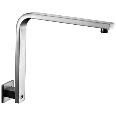 12 Square Raised Wall Mounted Shower Arm Finish: Brushed Nickel