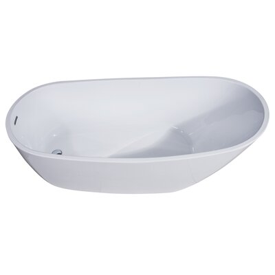Oval Acrylic 68 x 30.5 Freestanding Soaking Bathtub