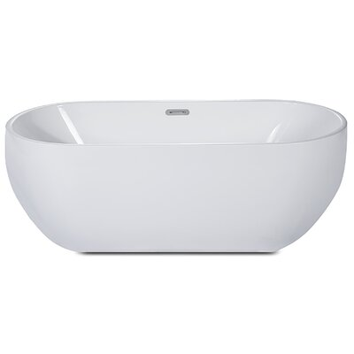 Oval Acrylic 59 x 28 Freestanding Soaking Bathtub