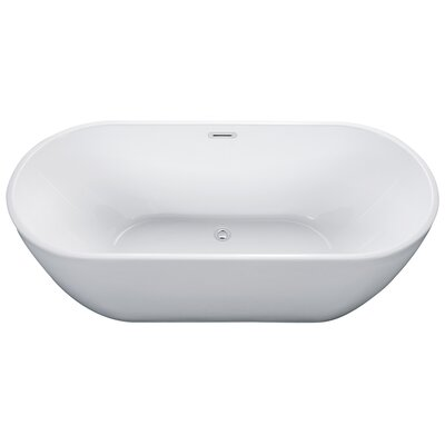 Oval Acrylic 67 x 30 Freestanding Soaking Bathtub