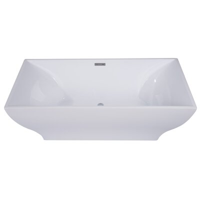 Rectangular Acrylic 67 x 32 Freestanding Soaking Bathtub