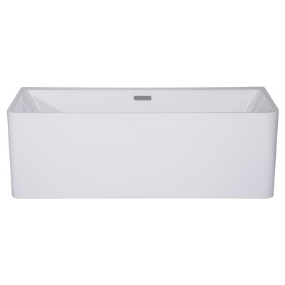 Rectangular Acrylic 59 x 28.4 Freestanding Soaking Bathtub