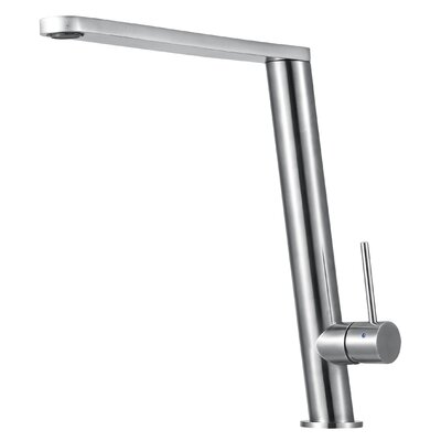 Round Modern Pull Out Single Handle Kitchen Faucet Finish: Polished Stainless Steel