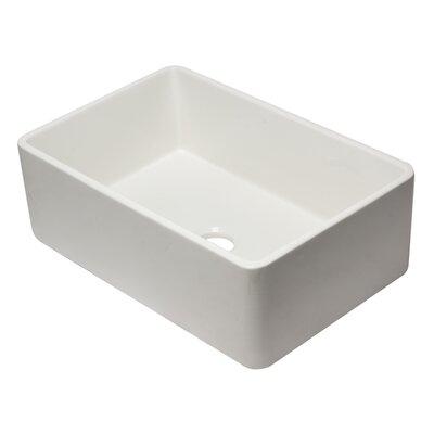 Reversible Fireclay 30 x 10 Farmhouse Kitchen Sink Finish: White