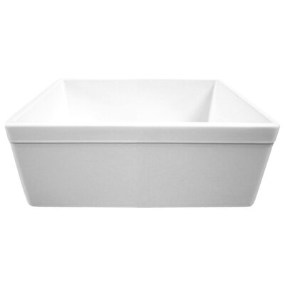26 x 20 Single Bowl Farmhouse Kitchen Sink Finish: White