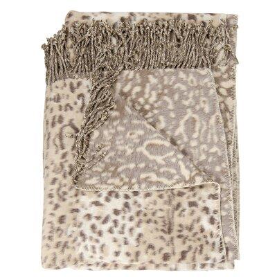 Snow Leopard Throw Blanket Color: Beige