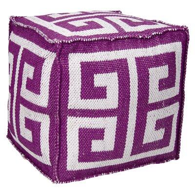 Greek Key Ottoman Color: Lilac