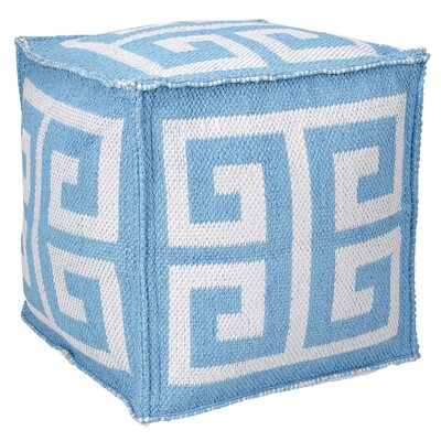 Greek Key Ottoman Color: Turquoise