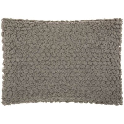 Mirales Wool Lumbar Pillow Color: Gray