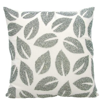 Anatole 100% Cotton Throw Pillow Color: Silver